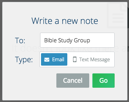 email and text messaging for churches